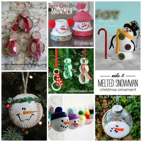 snowman ornament craft 27 diy snowman ornaments for snowman ornament
