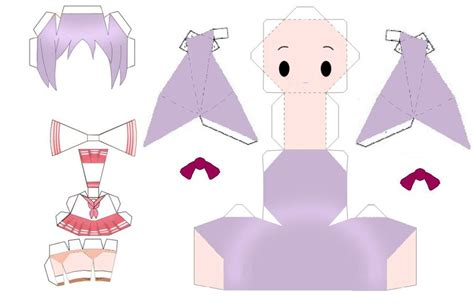 paper crafting templates anime free paper crafts