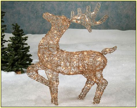 light up reindeer outdoor decoration light up reindeer and sleigh home design ideas