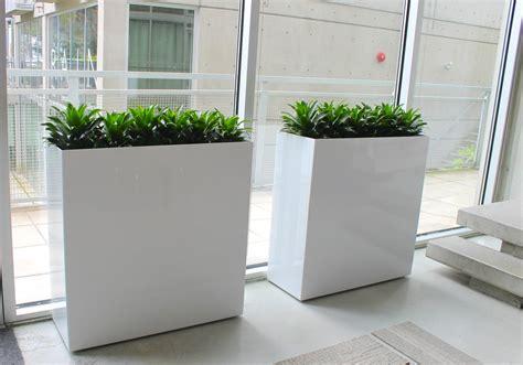 modern white planter outdoor divider planters modern planters puremodern