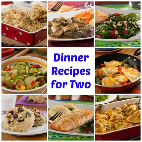 food recipes for 64 easy dinner recipes for two mrfood