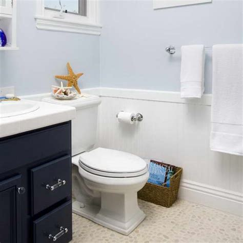 Wainscoting Bathroom Ideas by Bloombety Wainscoting In Bathroom Ideas With Pale Blue