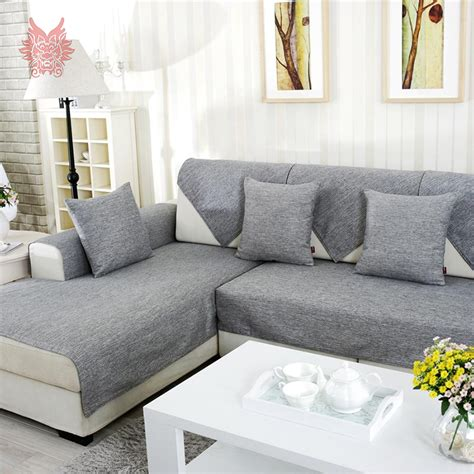sectional sofa slipcovers cheap aliexpress buy grey melange sofa cover slipcovers