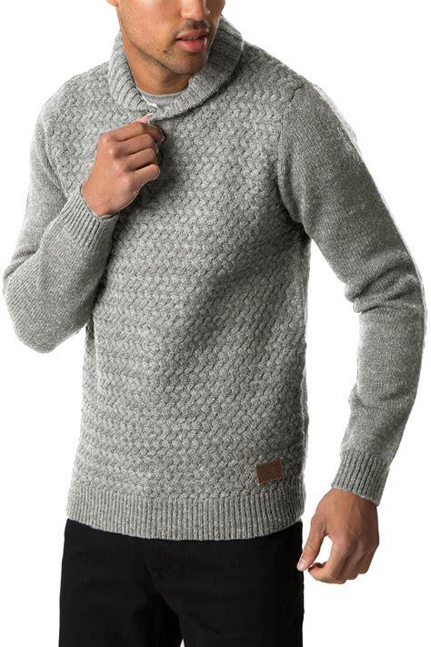 mens chunky knit sweater threadbare mens sweater oslo new shawl neck jumper chunky
