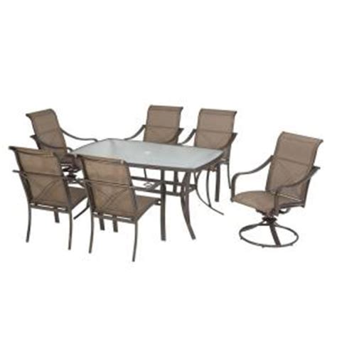 martha stewart grand bank patio dining table chairs at