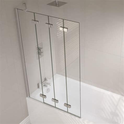 Shower Curtain For Corner Bath 4 panel semi frameless folding bath screen folding bath