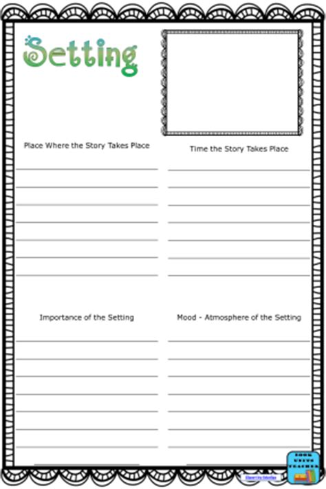 picture books to teach setting activities for teaching setting in literature book units