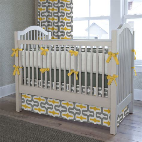 and grey crib bedding gray and yellow embrace crib bedding contemporary
