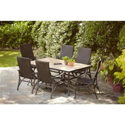 patio dining sets home depot hton bay pembrey 7 patio dining set hd14214 the