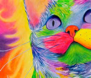 Rainbow Psychedelic Cat Painting Krystle S Gallery