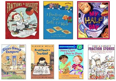 fraction picture books books for fraction lesson plans math themed