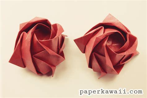 origami ros origami kawasaki tutorial paper kawaii