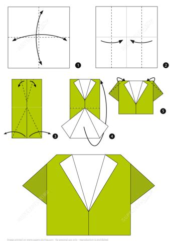 origami with steps how to make an origami shirt step by step