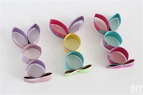 craft of toilet paper roll easter bunny craft