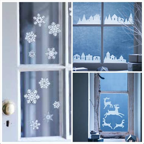 window decoration for decorate your windows with winter themed seasonal window