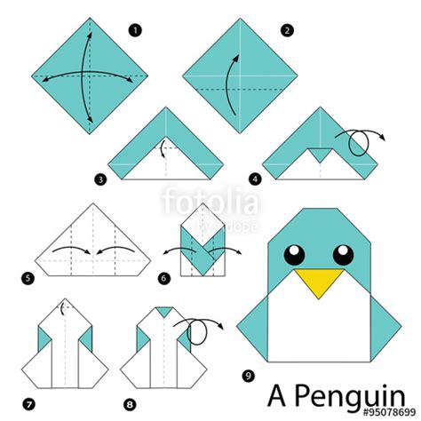origami how to make quot step by step how to make origami penguin