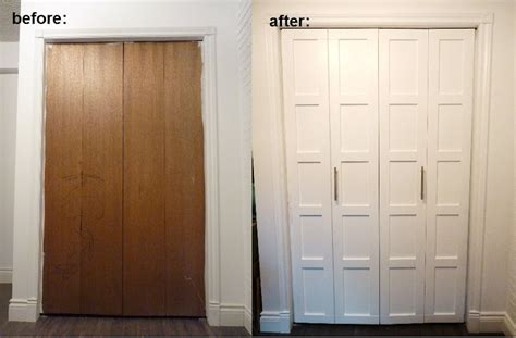 closet door top diy tutorials bi fold closet door makeover