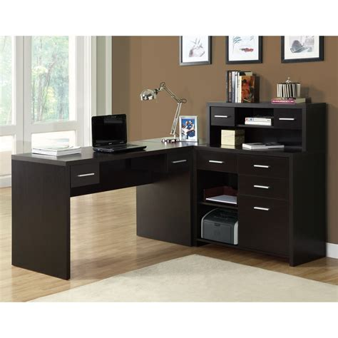 l shaped home office furniture monarch specialties i 7 l shaped home office desk lowe s
