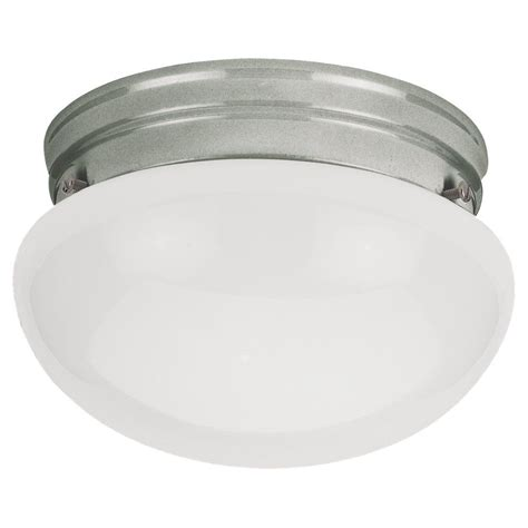 home depot ceiling light fixtures sea gull lighting 1 light brushed nickel incandescent
