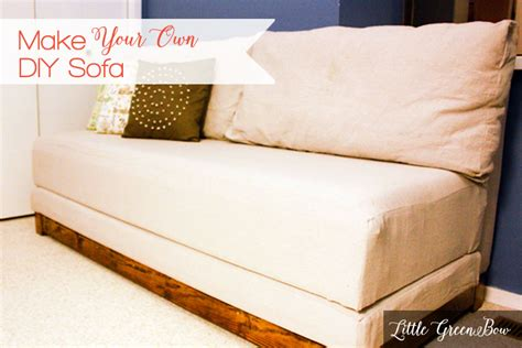 How To Make Sofa Bed Make Your Own Diy With Help From Green Bow