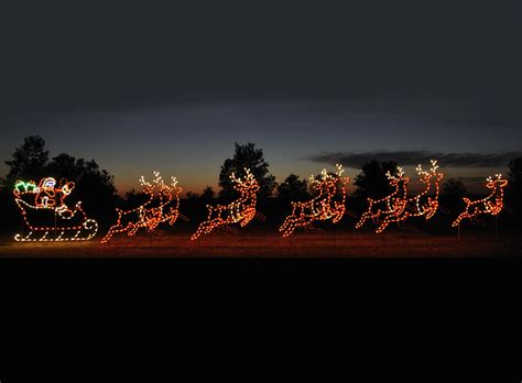 animated reindeer lights animated led santa sleigh 9 reindeer display 46 w