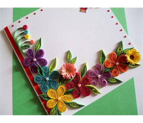 greeting cards colorful flowers border greeting card buy handmade cards