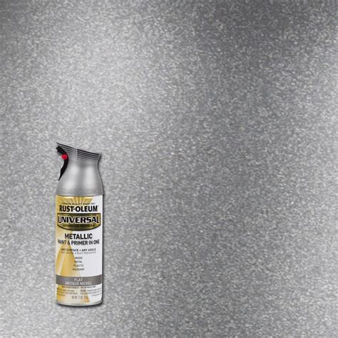 home depot spray paint for metal rust oleum universal 11 oz all surface metallic satin