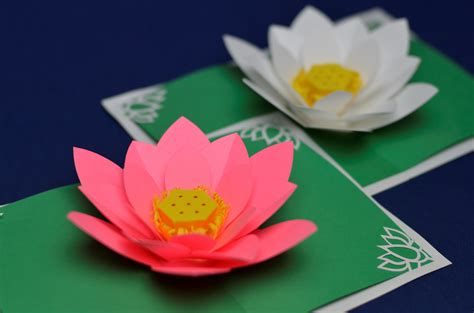 how to make flower cards s day lotus flower pop up card tutorial creative