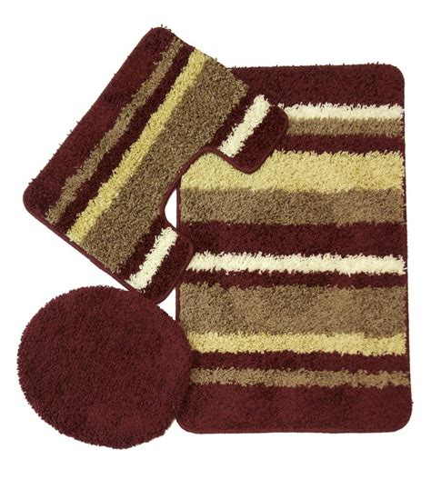 bathroom rugs set 3 avalon 3 bath rug set burgundy moshells