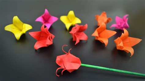 origami tulip flower origami flower tulip in br my