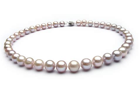 pearl jewelry lavender freshwater pearl necklace 7 5mm 8 5mm aaa