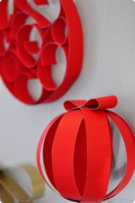 easy home made ornaments easy paper decorations designcorner
