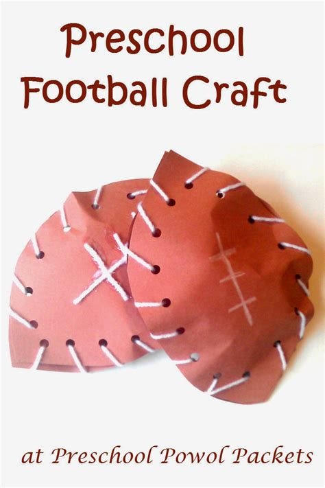 football craft projects football preschool craft preschool powol packets