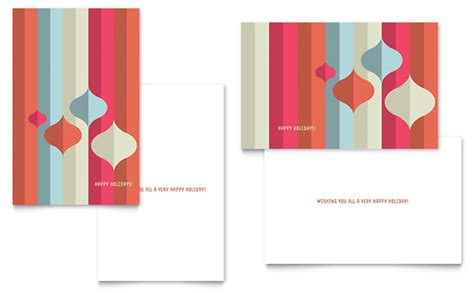 card templates modern ornaments greeting card template design