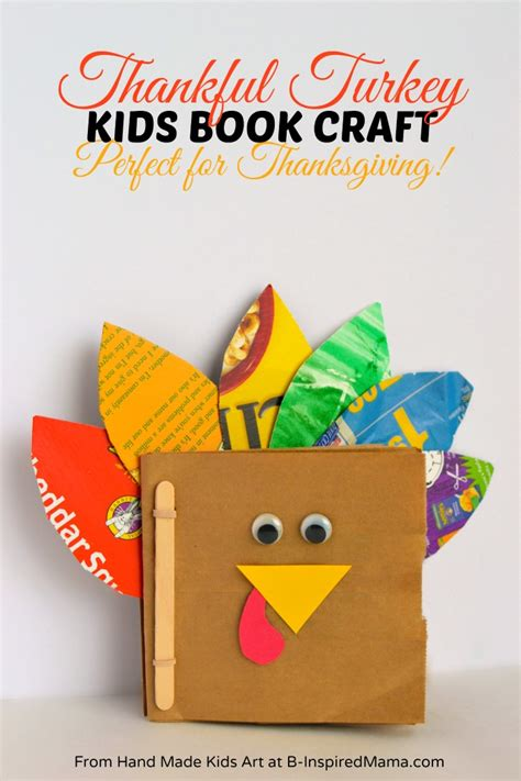 book craft for thanksgiving crafts for a thankful turkey book b