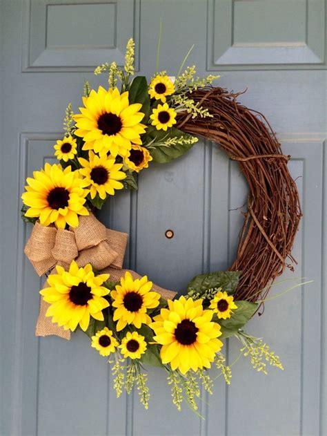 door wreaths 25 best ideas about sunflower wreaths on