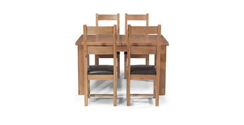 oak extending dining table and 4 chairs rustic oak 132 198 cm extending dining table and 4 chairs