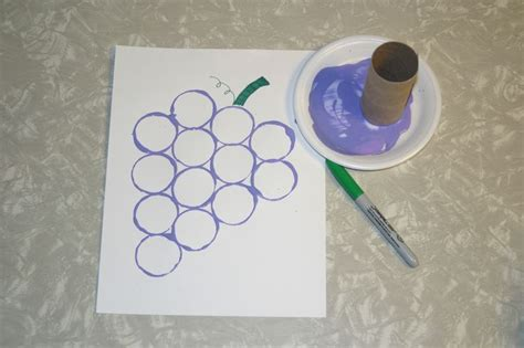 purple crafts for toilet paper roll grape craft sunday school themes
