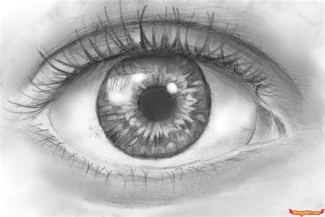How To Draw An Eye In Pencil
