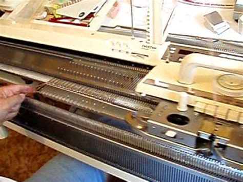 how to cast on a knitting machine machine knitting learn how to cast on simple