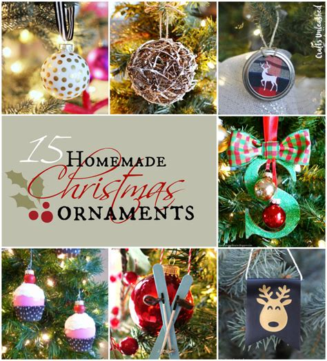 home made decorations for ornaments 15 diy projects