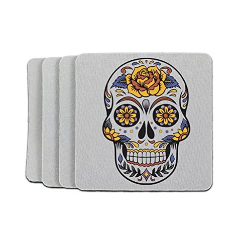 day of the dead rubber sts 21 best absorbing coasters top kitchen addicts