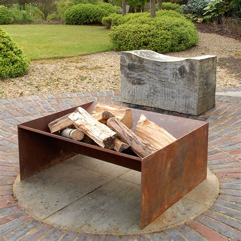 welded pit chunk welded steel pit by magma firepits