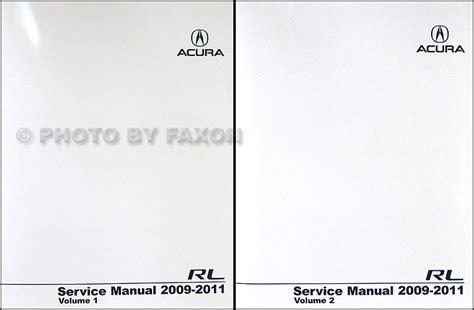 car repair manuals online pdf 2009 acura rl transmission control 2009 2011 acura rl repair shop manual original 2 volume set