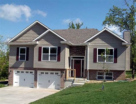 split level garage attractive split level home plan 75005dd 1st floor master suite cad available drive
