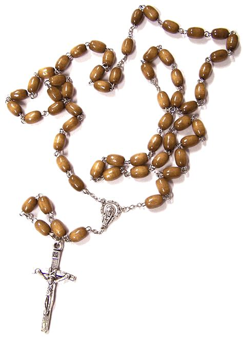 luminous rosary wood oval bead rosary from italy with free st
