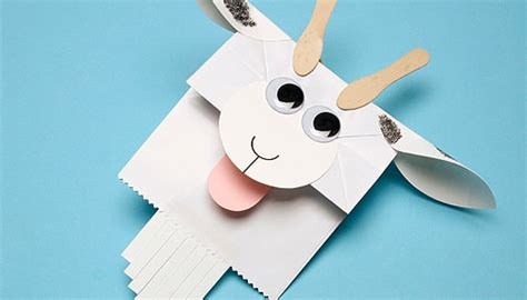 goat craft for paper baaa g goat puppet