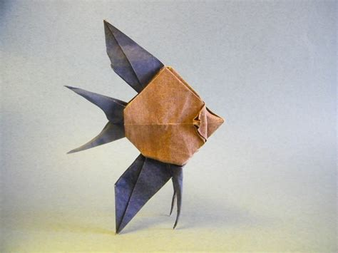 origami angelfish this week in origami autumn leaves edition
