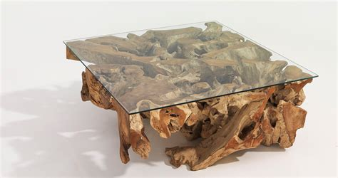 root coffee table teak root coffee table