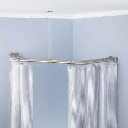 bathroom shower rods neo angle solid brass shower curtain rod bathroom